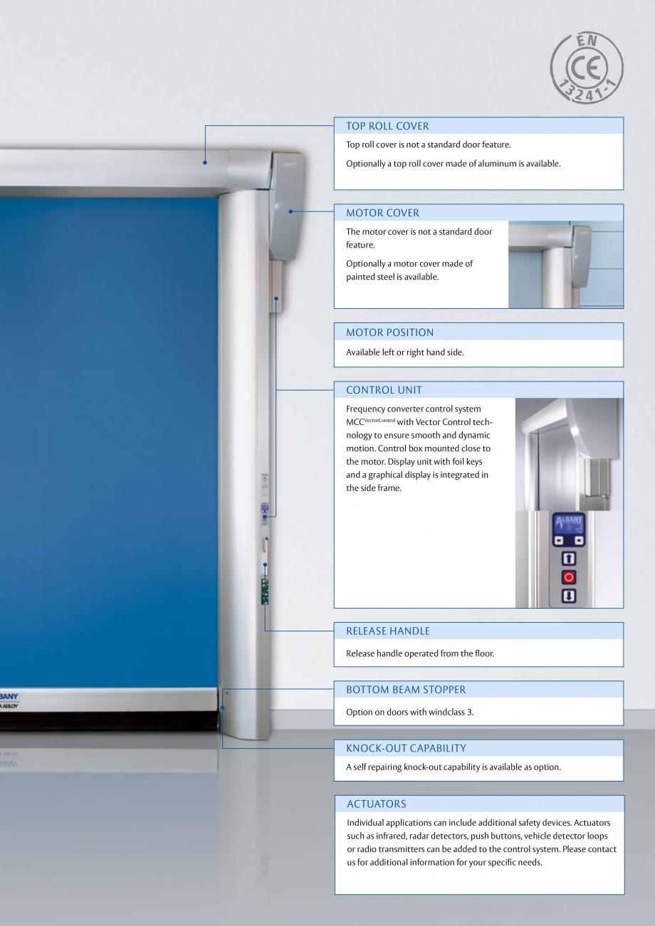 Pagina 3 - Usa industriala de inalta performanta ASSA ABLOY RapidRoll® 600 Fisa tehnica Engleza ...