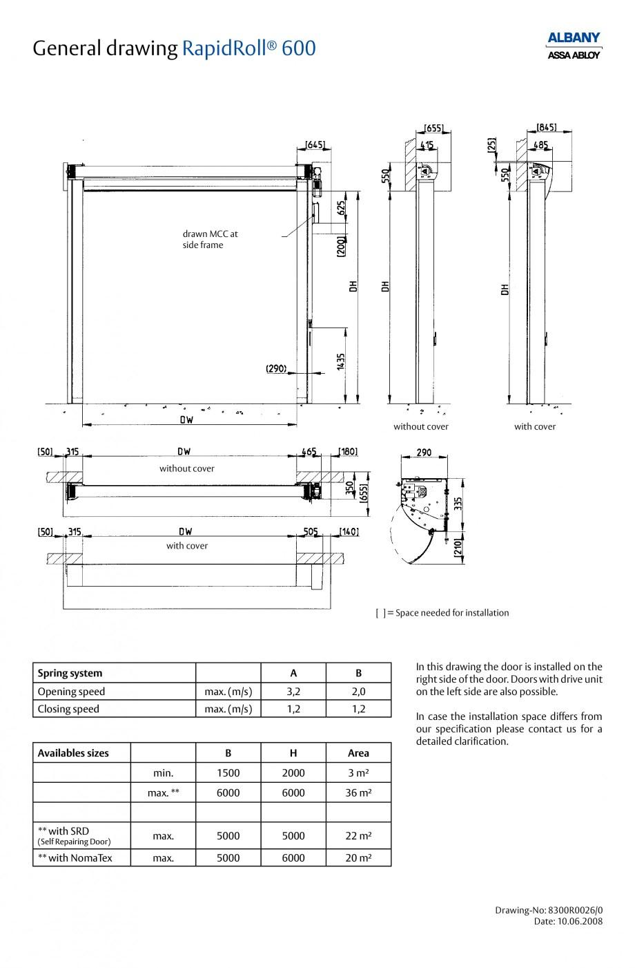 Pagina 5 - Usa industriala de inalta performanta ASSA ABLOY RapidRoll® 600 Fisa tehnica Engleza ...