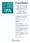 Certificat IPA Fraunhofer ASSA ABLOY - RapidRoll® Clean
