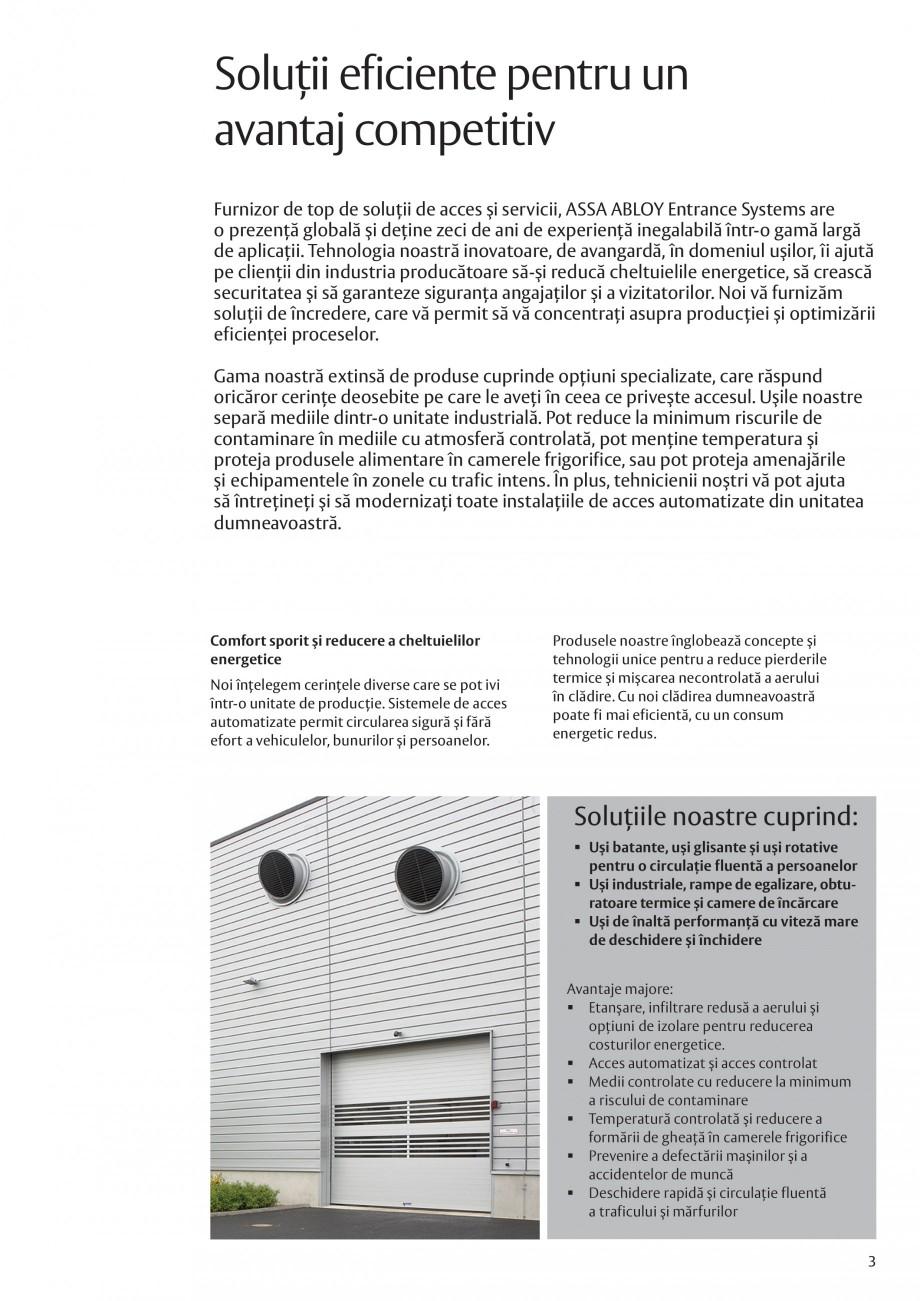Pagina 3 - Solutii de acces complete pentru unitatile de productie ASSA ABLOY Catalog, brosura...
