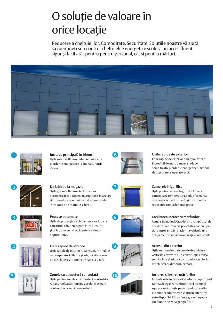 Pagina 5 - Solutii de acces complete pentru unitatile de productie ASSA ABLOY Catalog, brosura...