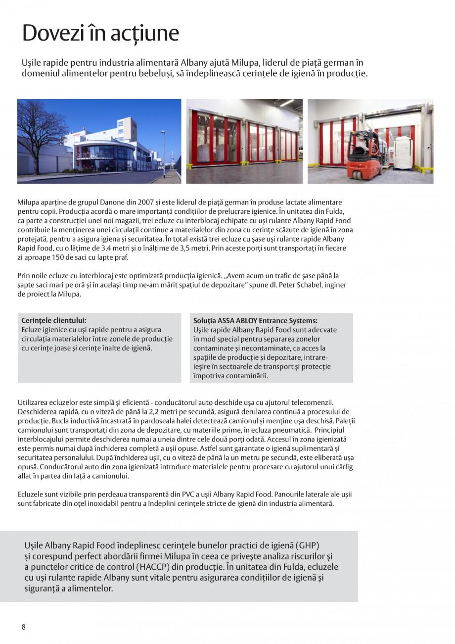 Pagina 8 - Solutii de acces complete pentru unitatile de productie ASSA ABLOY Catalog, brosura...
