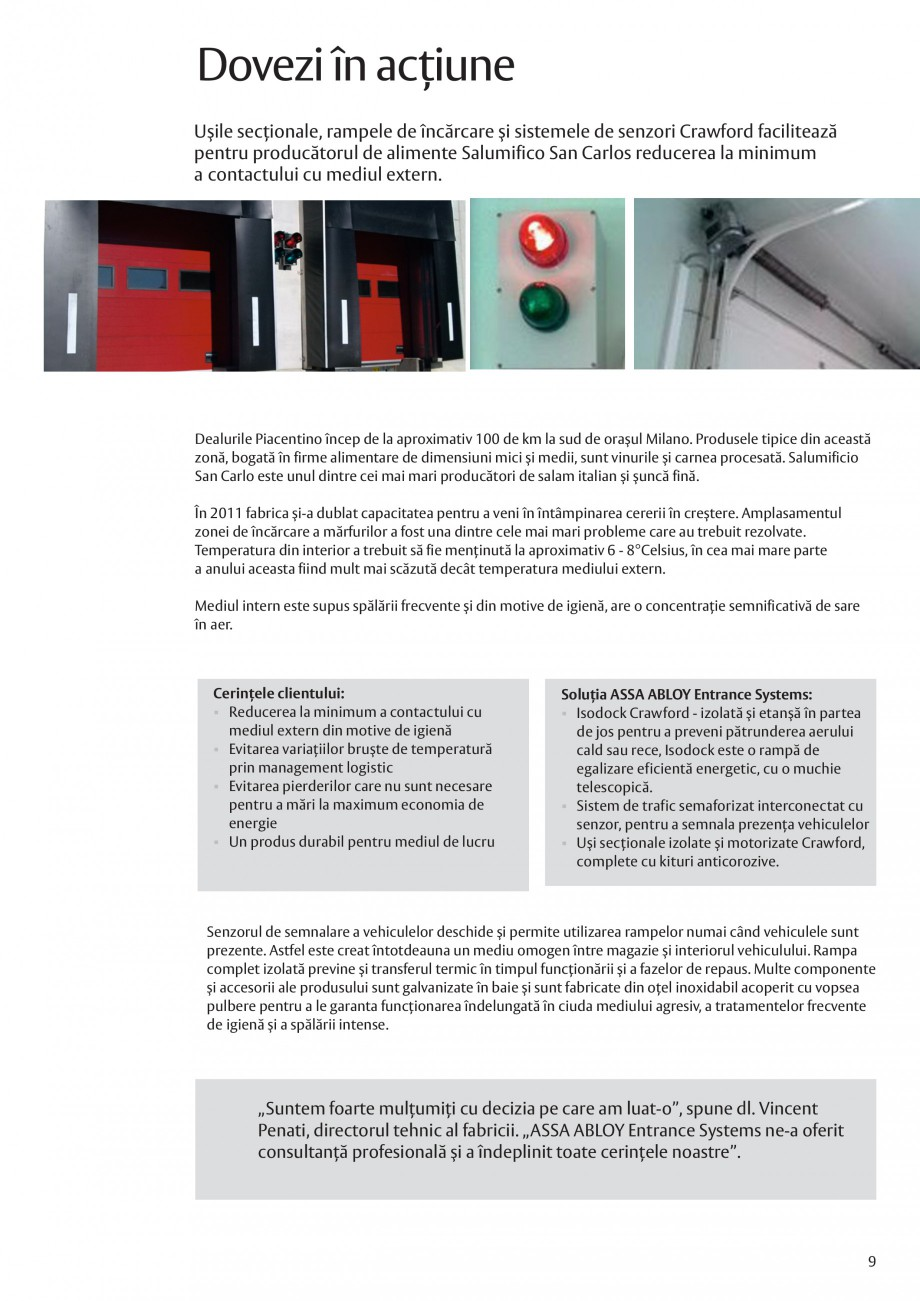 Pagina 9 - Solutii de acces complete pentru unitatile de productie ASSA ABLOY Catalog, brosura...