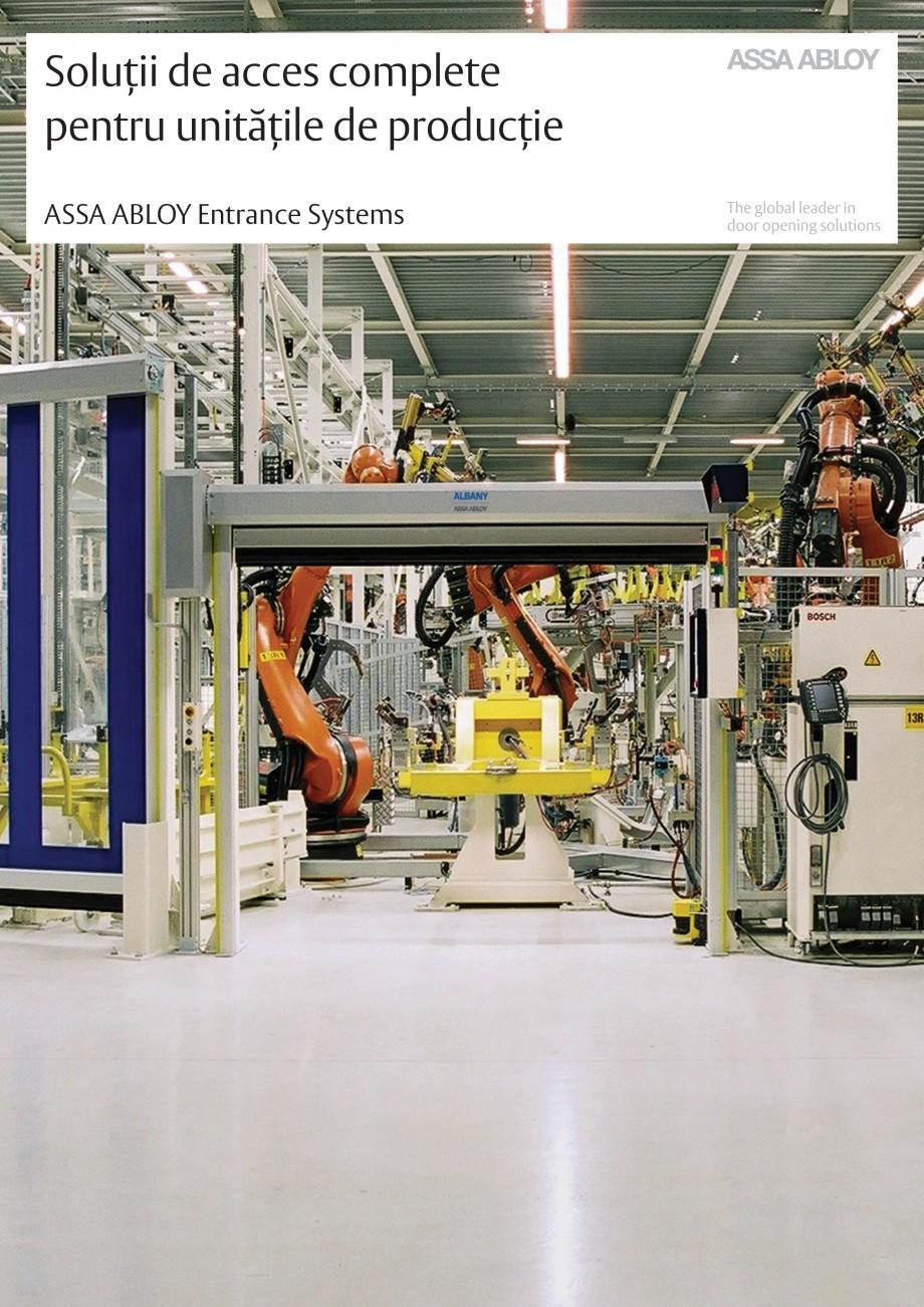 Pagina 1 - Solutii de acces complete pentru unitatile de productie ASSA ABLOY Catalog, brosura...