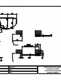 Usa automata transparenta 1 - montare pe perete dreapta