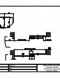 Usa automata transparenta 2 - montare pe perete dreapta