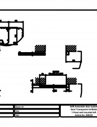 Usa automata semi-transparenta 1 - montare pe perete stanga
