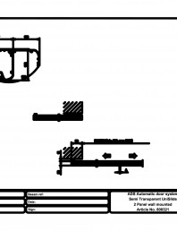 Usa automata semi-transparenta 2 - montare pe perete