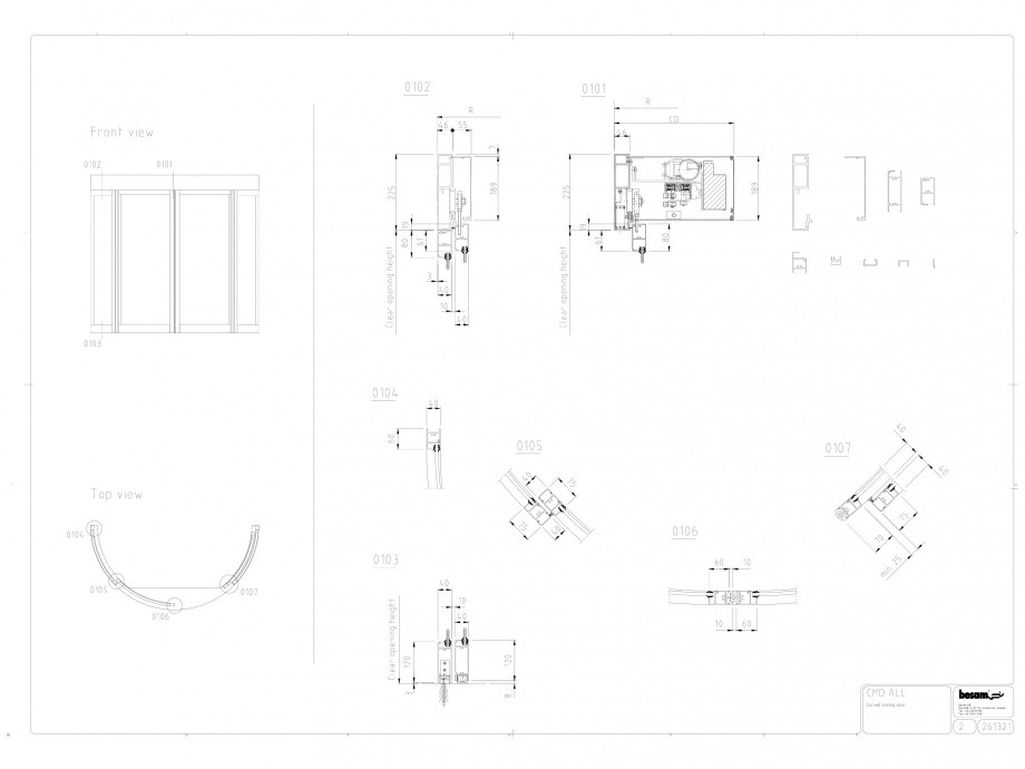 Pagina 1 - CAD-DWG Usa automata glisanta curba ASSA ABLOY Detaliu de produs Besam Curved CMD