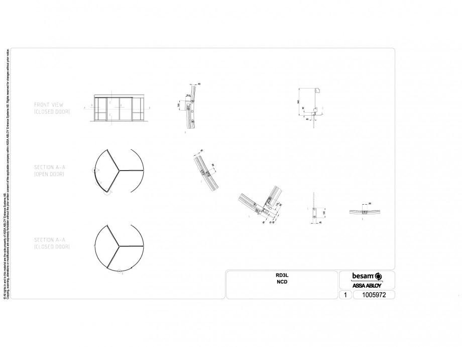Pagina 1 - CAD-DWG Usa automata rotativa ASSA ABLOY Detaliu de produs Besam RD3L
