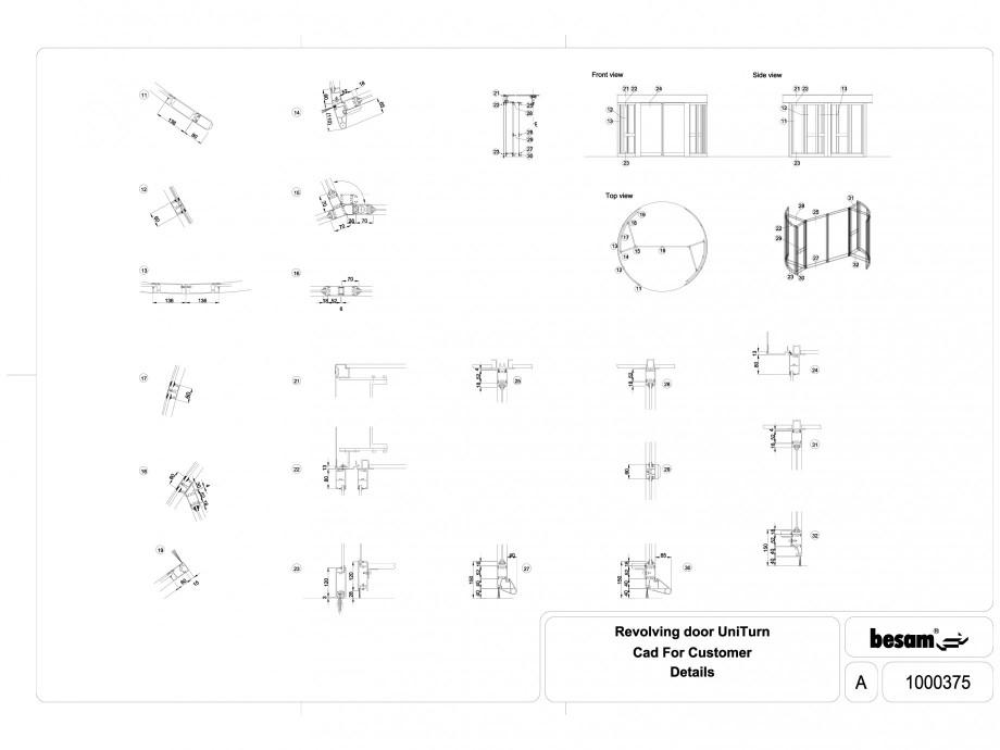 Pagina 1 - CAD-DWG Usa automata rotativa ASSA ABLOY Detaliu de produs Besam UniTurn