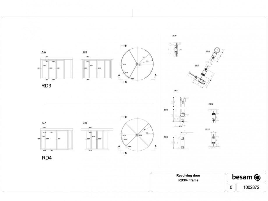 Pagina 1 - CAD-DWG Usa automata rotativa - desen tehnic nr. 1002872 ASSA ABLOY Detaliu de produs...