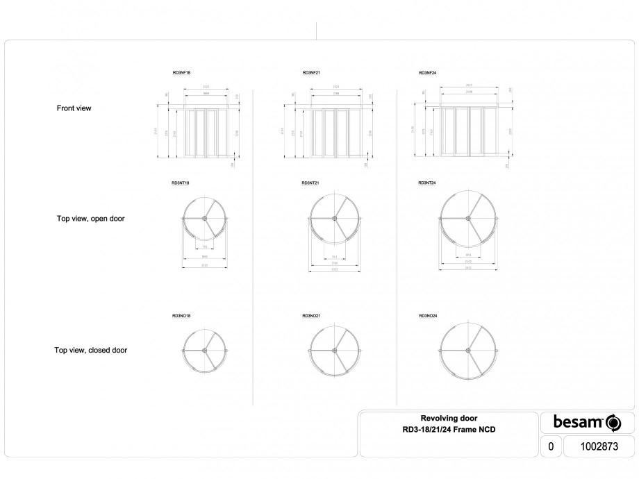 Pagina 1 - CAD-DWG Usa automata rotativa - cadru 18 / 21 / 24 NCD ASSA ABLOY Detaliu de produs Besam...