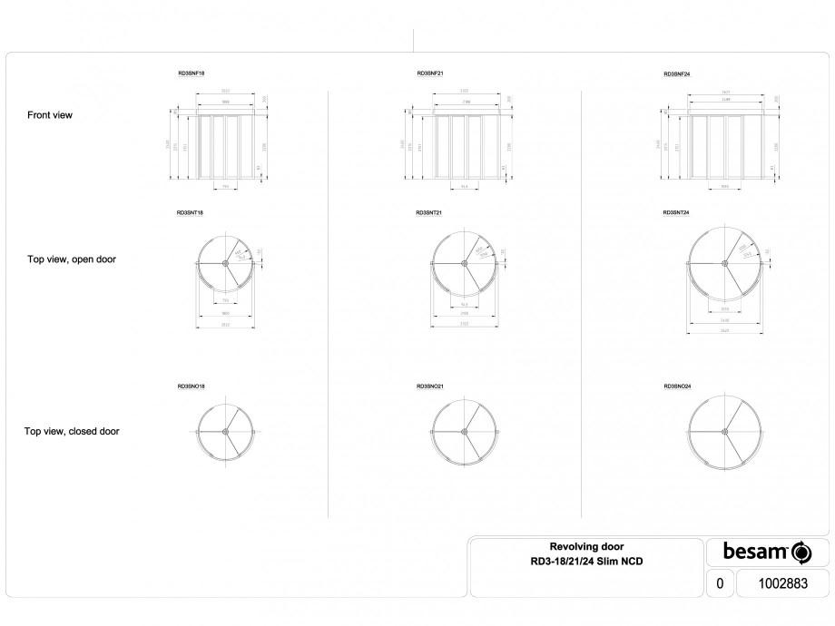 Pagina 1 - CAD-DWG Usa automata rotativa - cadru 18 / 21 / 24 Slim NCD ASSA ABLOY Detaliu de produs ...
