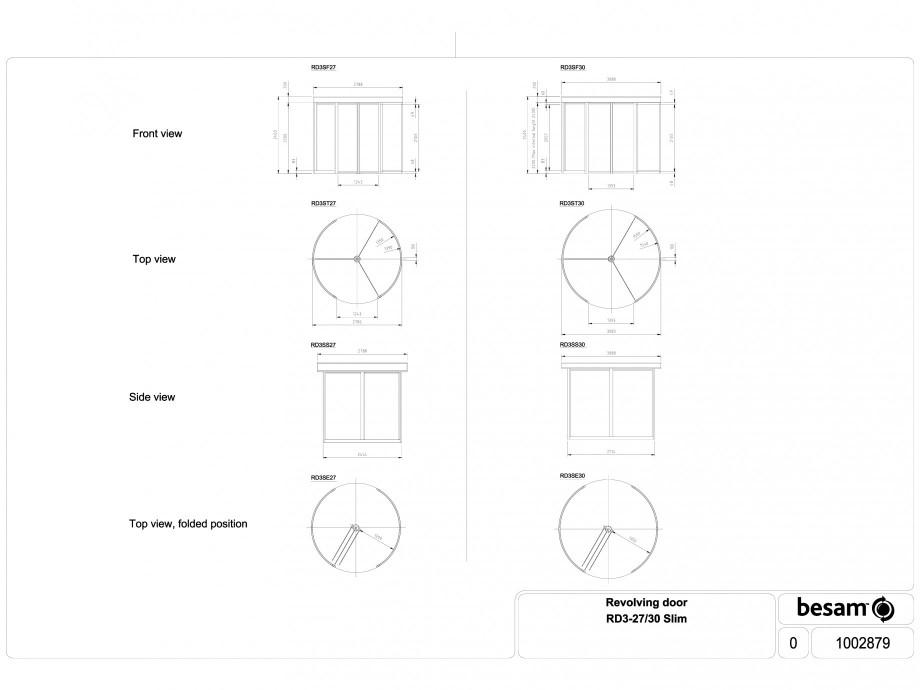 Pagina 1 - CAD-DWG Usa automata rotativa - 27 / 30 Slim ASSA ABLOY Detaliu de produs Besam RD3