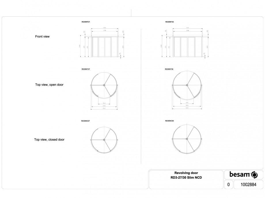 Pagina 1 - CAD-DWG Usa automata rotativa - 27 / 30 Slim NCD ASSA ABLOY Detaliu de produs Besam RD3