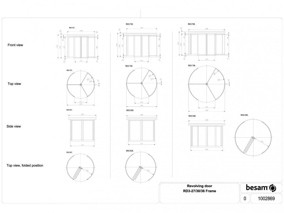 Pagina 1 - CAD-DWG Usa automata rotativa - cadru 27 / 30 / 36 ASSA ABLOY Detaliu de produs Besam RD3...