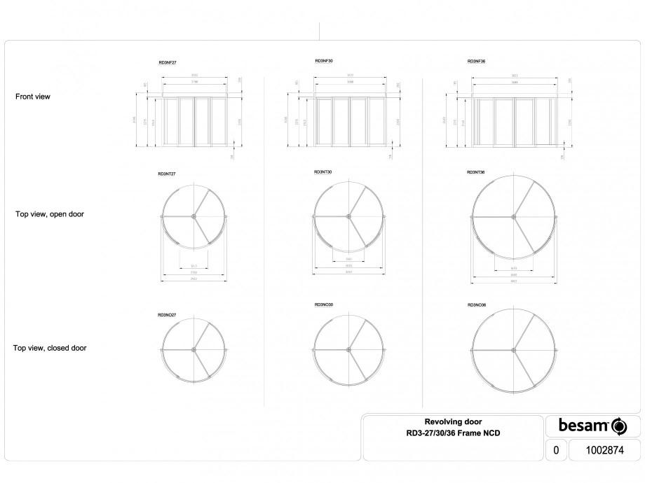 Pagina 1 - CAD-DWG Usa automata rotativa - cadru 27 / 30 / 36 NCD ASSA ABLOY Detaliu de produs Besam...