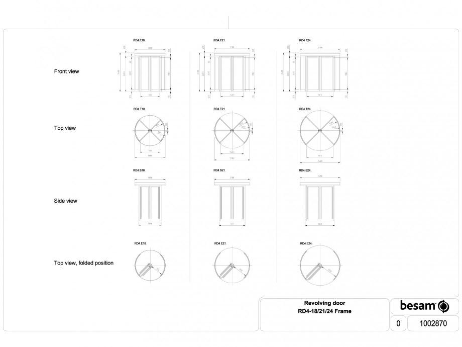 Pagina 1 - CAD-DWG Usa automata rotativa - cadru 18 / 21 / 24 ASSA ABLOY Detaliu de produs Besam RD4...