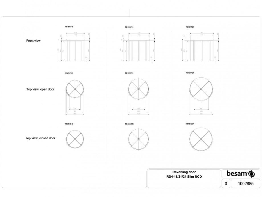 Pagina 1 - CAD-DWG Usa automata rotativa - 18 / 21 / 24 Slim NCD ASSA ABLOY Detaliu de produs Besam ...