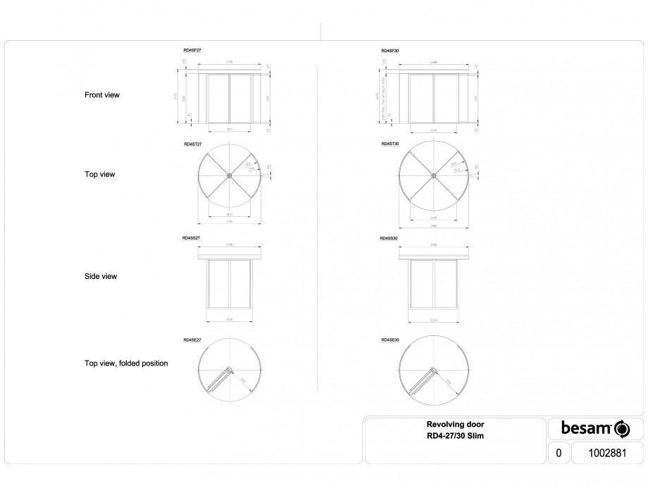 Pagina 1 - CAD-DWG Usa automata rotativa - 27 / 30 Slim ASSA ABLOY Detaliu de produs Besam RD4
