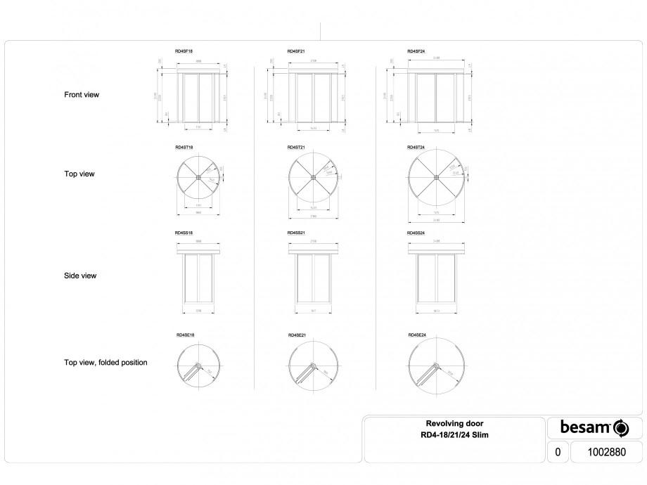 Pagina 1 - CAD-DWG Usa automata rotativa cu un sens de acces ASSA ABLOY Detaliu de produs Besam...