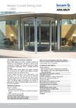 Usa automata glisanta curba ASSA ABLOY - Besam Curved CMD