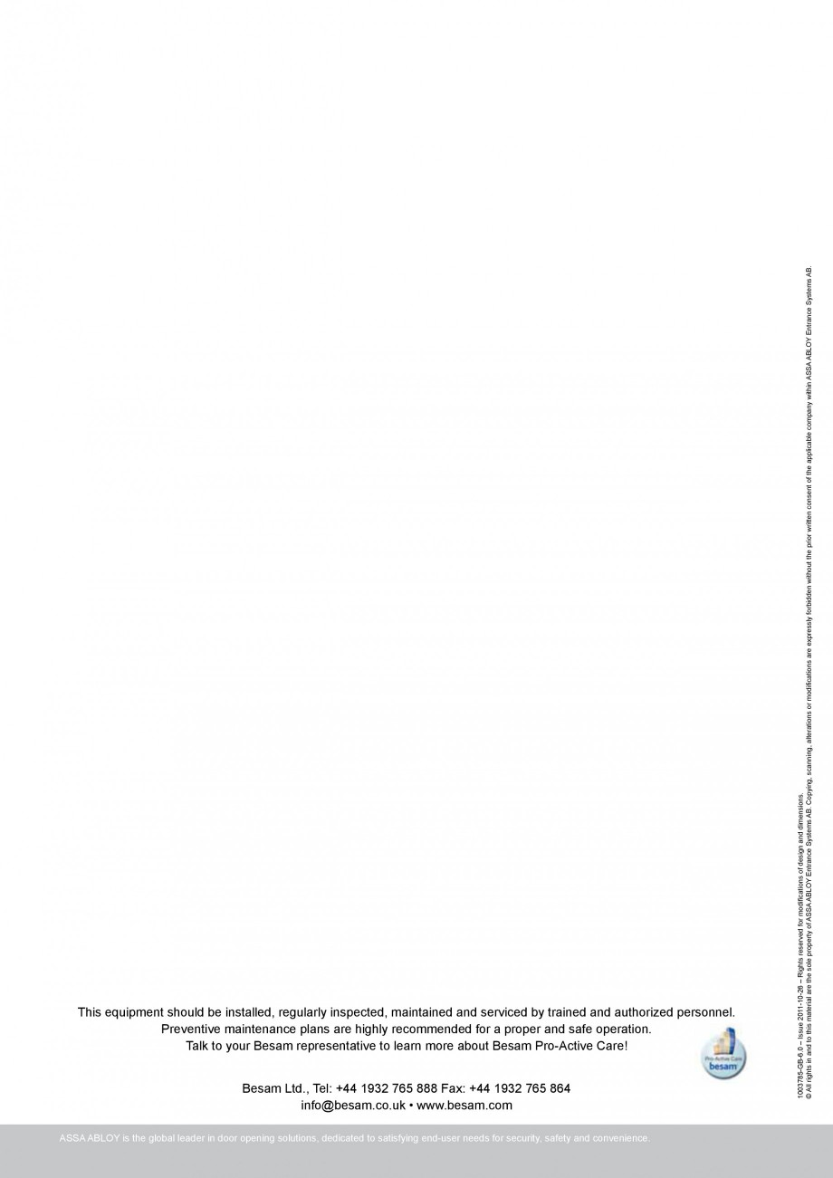 Pagina 4 - Usa automata transparenta ASSA ABLOY Besam Transparent Fisa tehnica Engleza Hmin FHmax ...