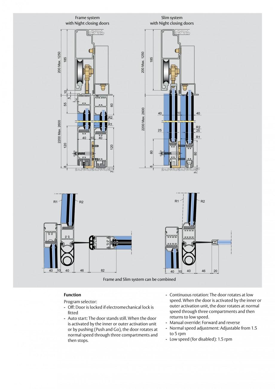 Pagina 3 - Usi automate rotative (model in 3 sau 4 usi) ASSA ABLOY Besam RD3 Fisa tehnica Engleza ...
