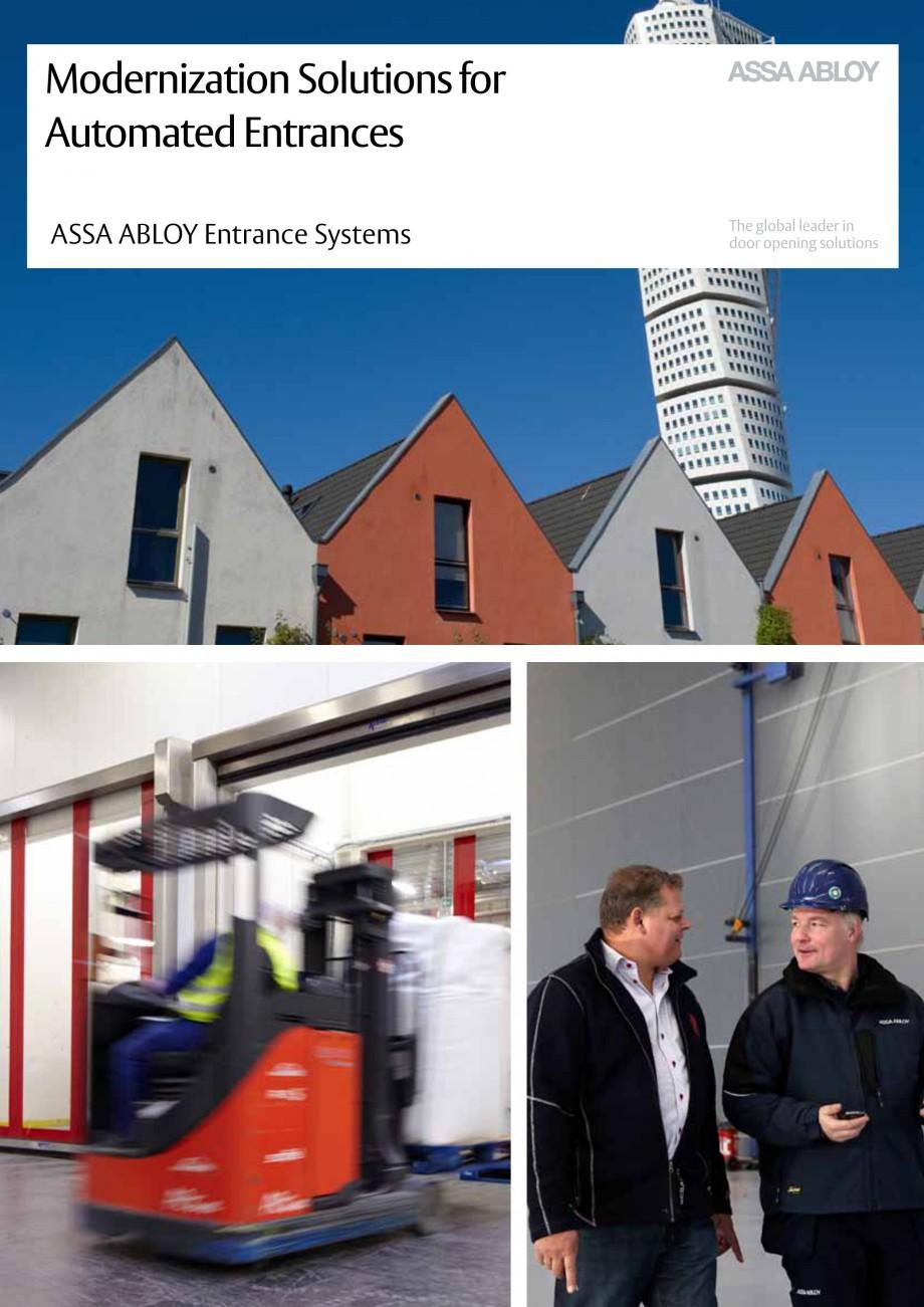 Pagina 1 - Servicii de modernizare ASSA ABLOY Catalog, brosura Engleza Modernization Solutions for...