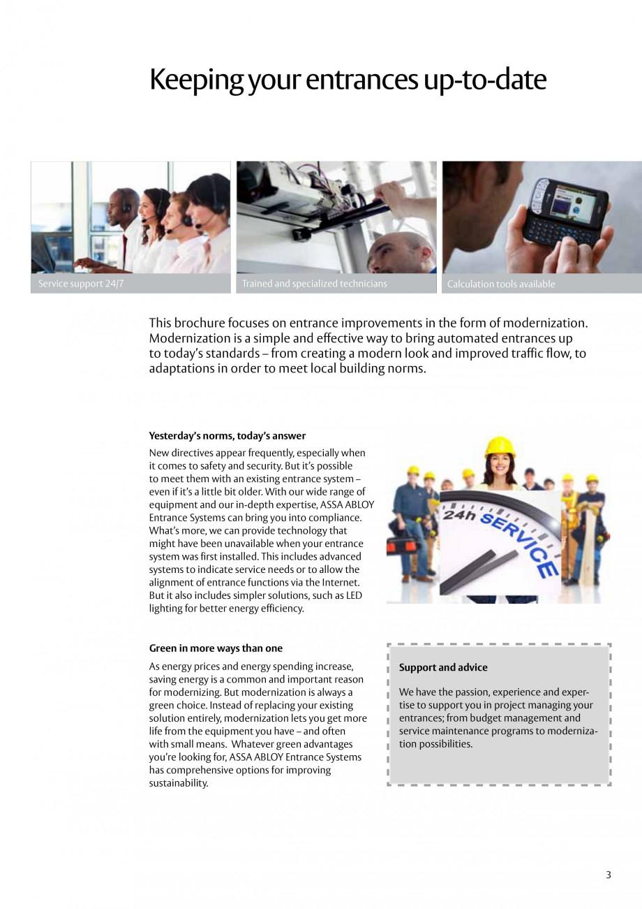 Pagina 3 - Servicii de modernizare ASSA ABLOY Catalog, brosura Engleza ology that might have been...