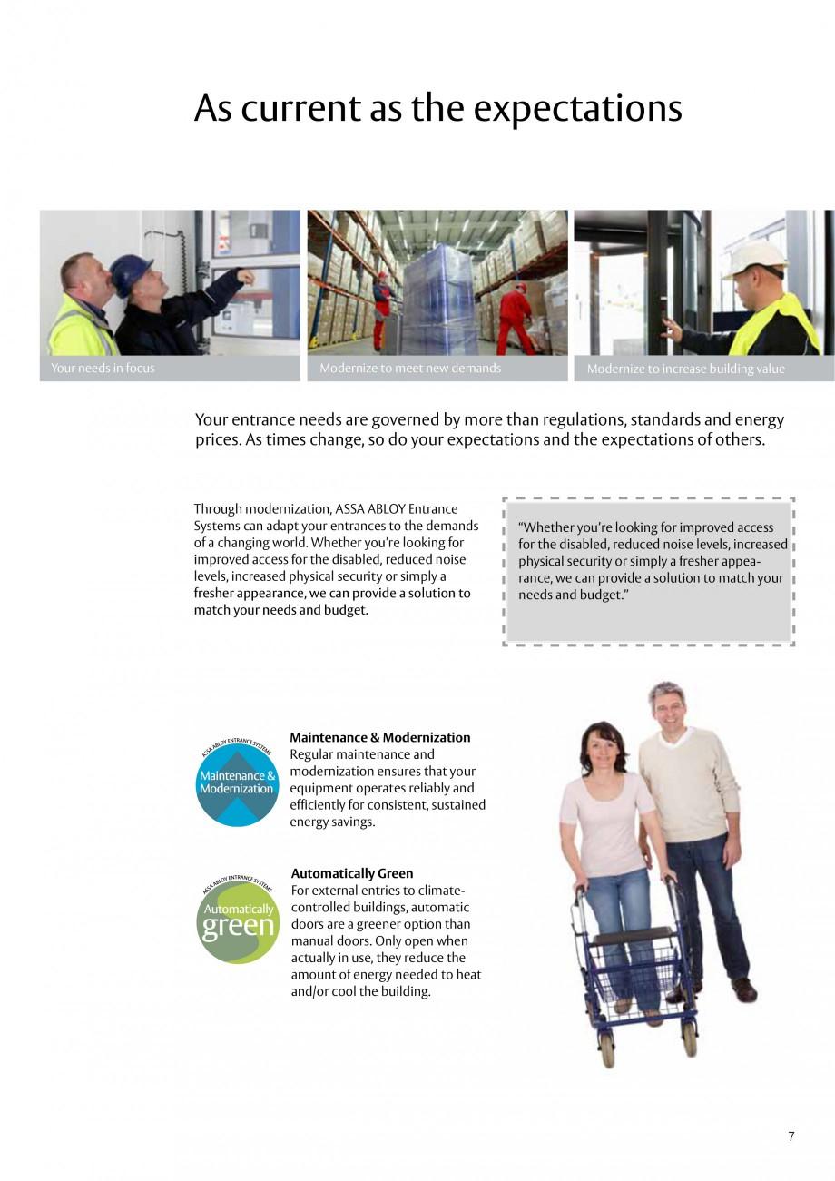 Pagina 7 - Servicii de modernizare ASSA ABLOY Catalog, brosura Engleza proving Upgrade to improve:  ...