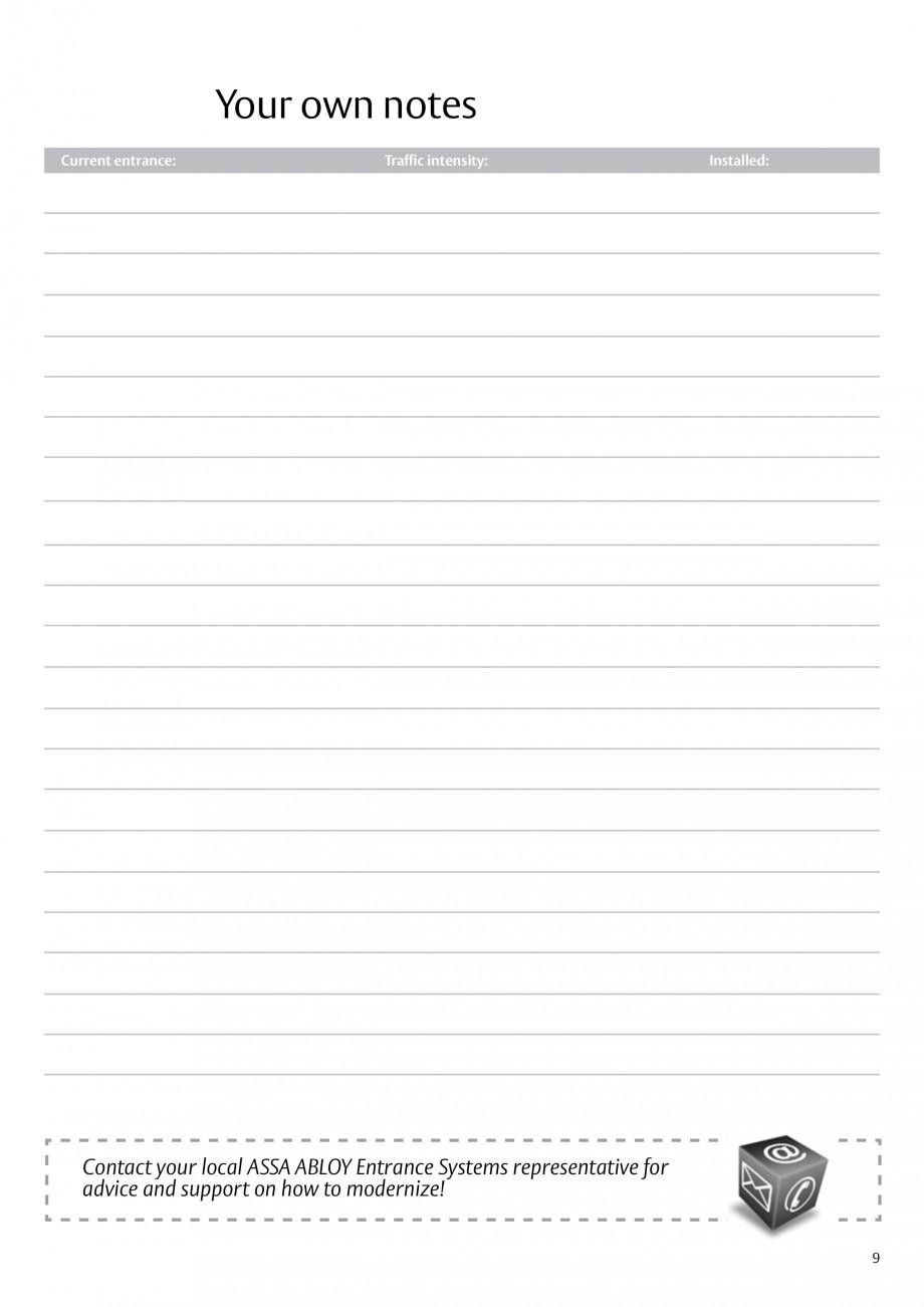 Pagina 9 - Servicii de modernizare ASSA ABLOY Catalog, brosura Engleza tion solutions. We take a...