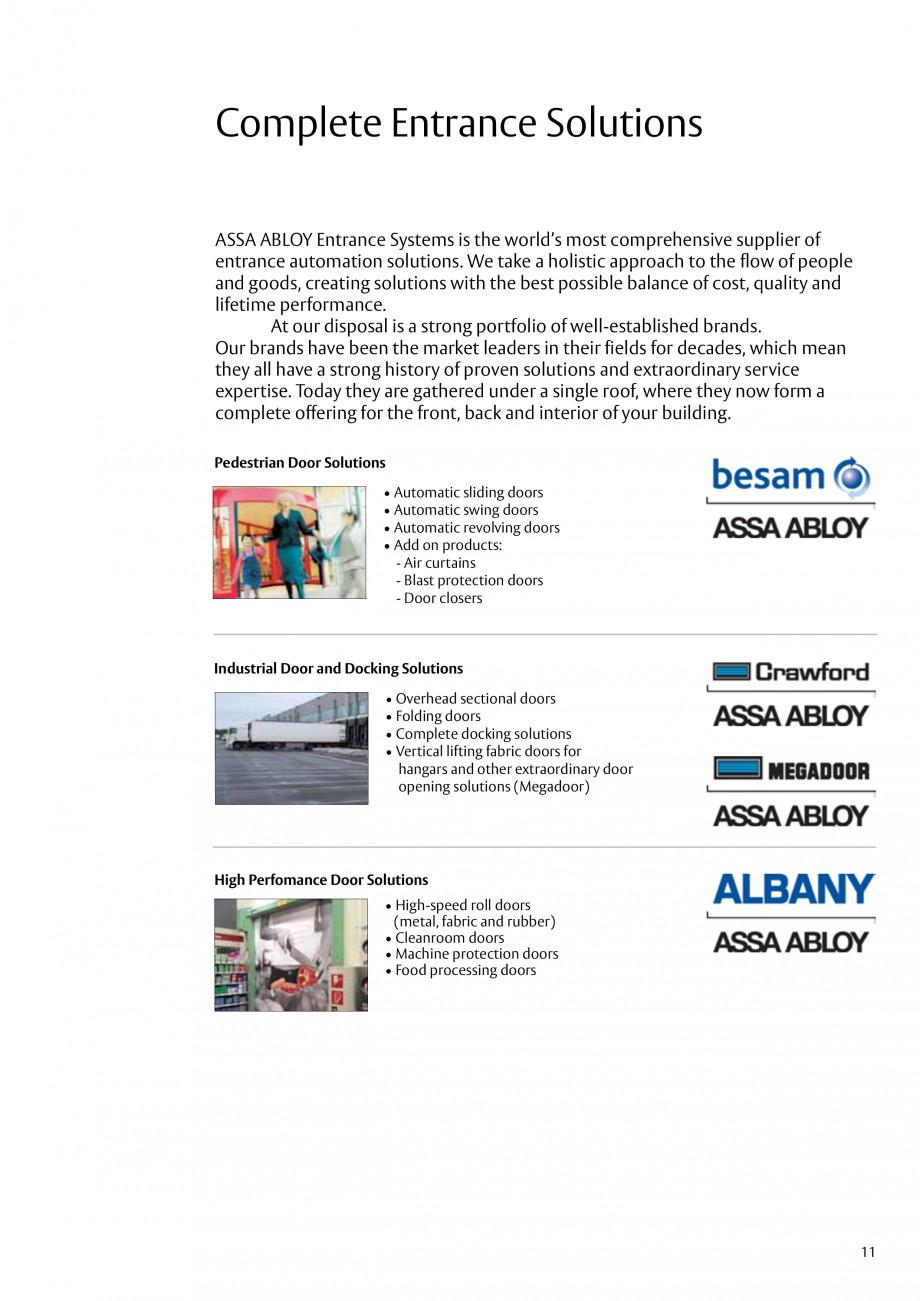 Pagina 11 - Servicii de modernizare ASSA ABLOY Catalog, brosura Engleza