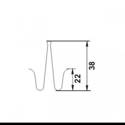 PROLUX Clema cu prindere dubla pentru profilul de dilatatie GOA SCG002 - detaliu - Profile de dilatatie PROLUX