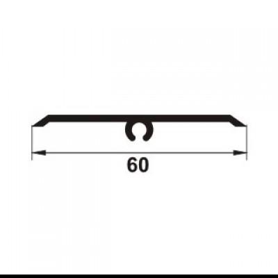 PROLUX Profil de dilatatie pentru pereti / tavane din eloxalum20, 60 mm latime, GOA603 - detaliu - Profile de dilatatie PROLUX