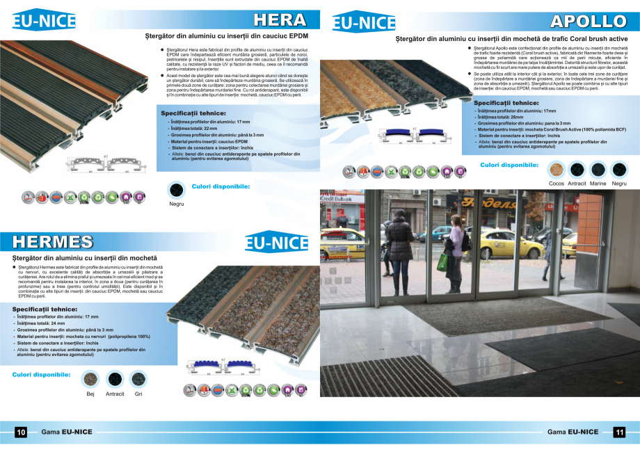 Pagina 6 - Stergatoare de picioare - sistem inchis EU NICE HERMES, HERA, APOLLO Fisa tehnica Romana