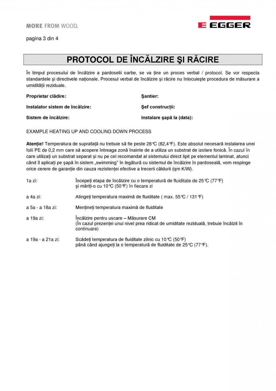 Pagina 3 - Informatii detaliate privind parchet laminat pentru sisteme de incalzire in pardoseala...