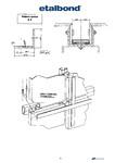 Detalii sistem suport pentru montarea panourilor compozite de aluminiu / Panouri compozite din aluminiu, decorative pentru fatade / STEELMET ROMANIA