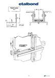 Detalii sistem suport pentru montarea panourilor compozite de aluminiu ETALBOND - etalbond®