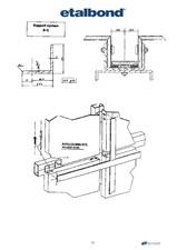 Detalii sistem suport pentru montarea panourilor compozite de aluminiu ETALBOND