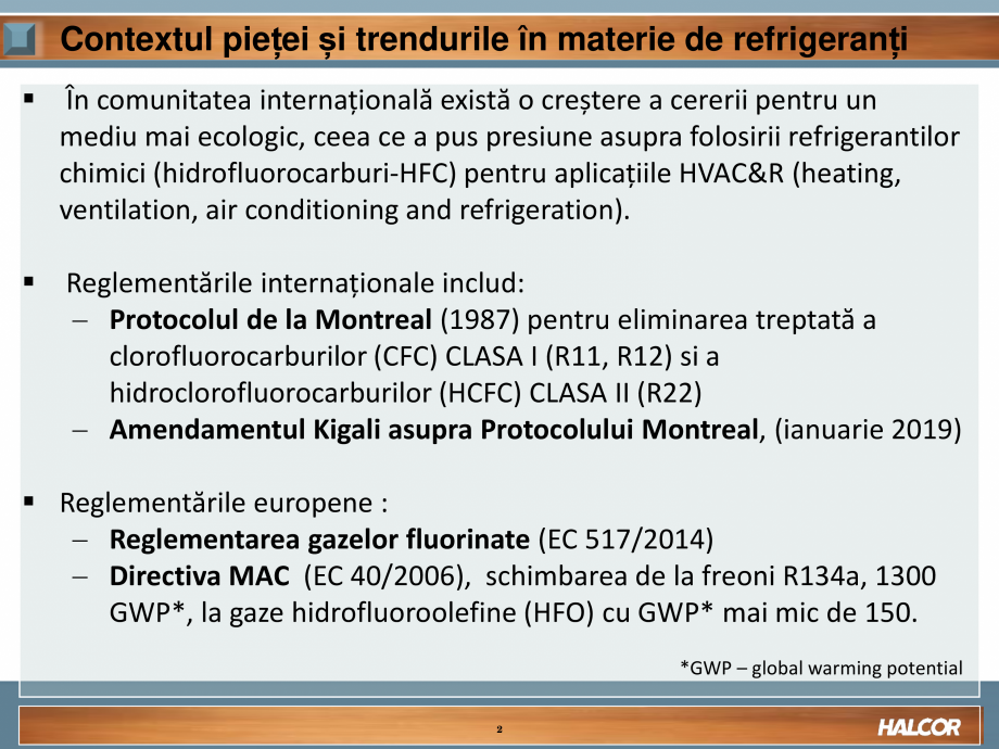 Pagina 2 - Tevi din aliaj de cupru pentru aplicatii de CO2 de inalta presiune  HALCOR TALOS®XS...