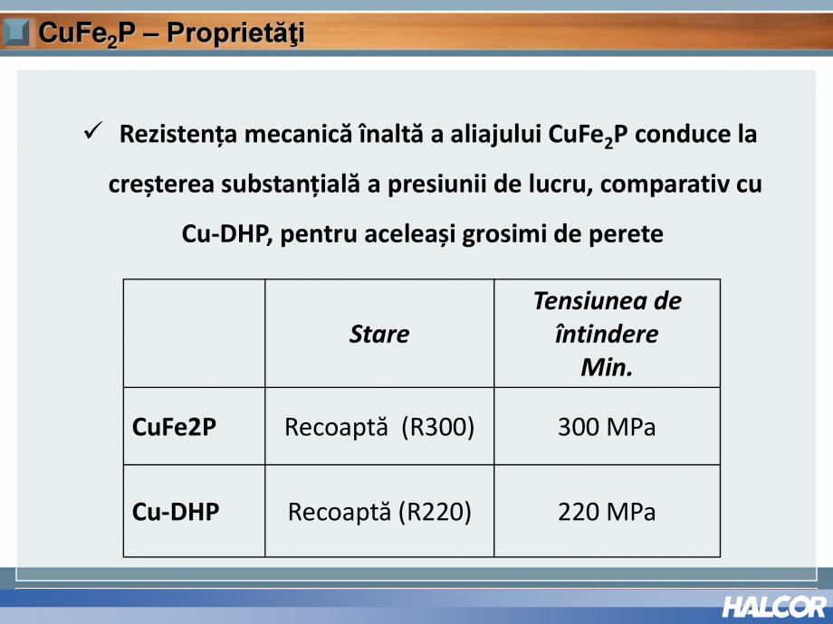 Pagina 12 - Tevi din aliaj de cupru pentru aplicatii de CO2 de inalta presiune  HALCOR TALOS®XS ...