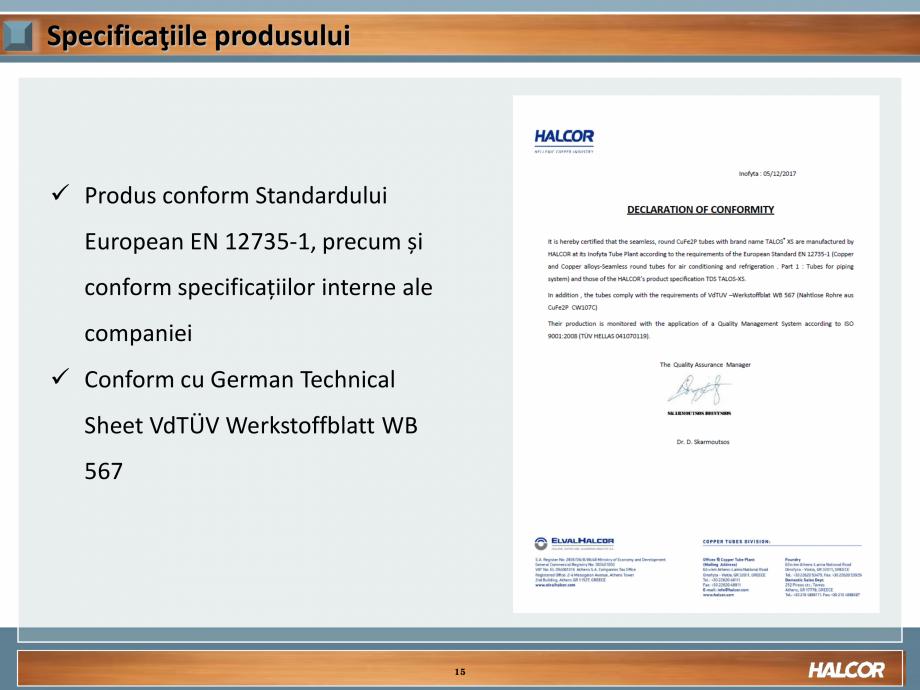 Pagina 15 - Tevi din aliaj de cupru pentru aplicatii de CO2 de inalta presiune  HALCOR TALOS®XS ...