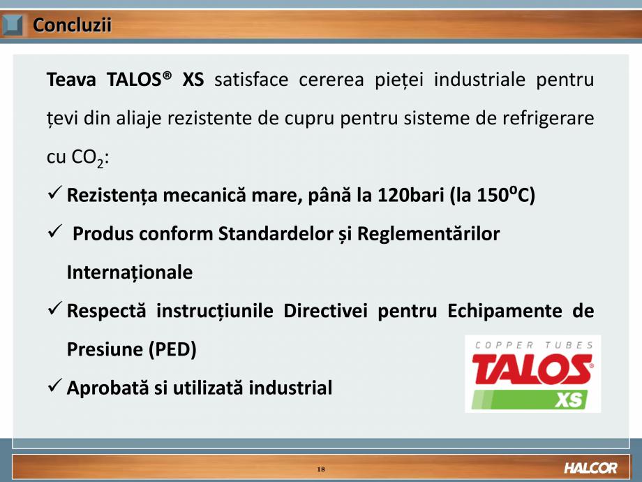 Pagina 18 - Tevi din aliaj de cupru pentru aplicatii de CO2 de inalta presiune  HALCOR TALOS®XS ...