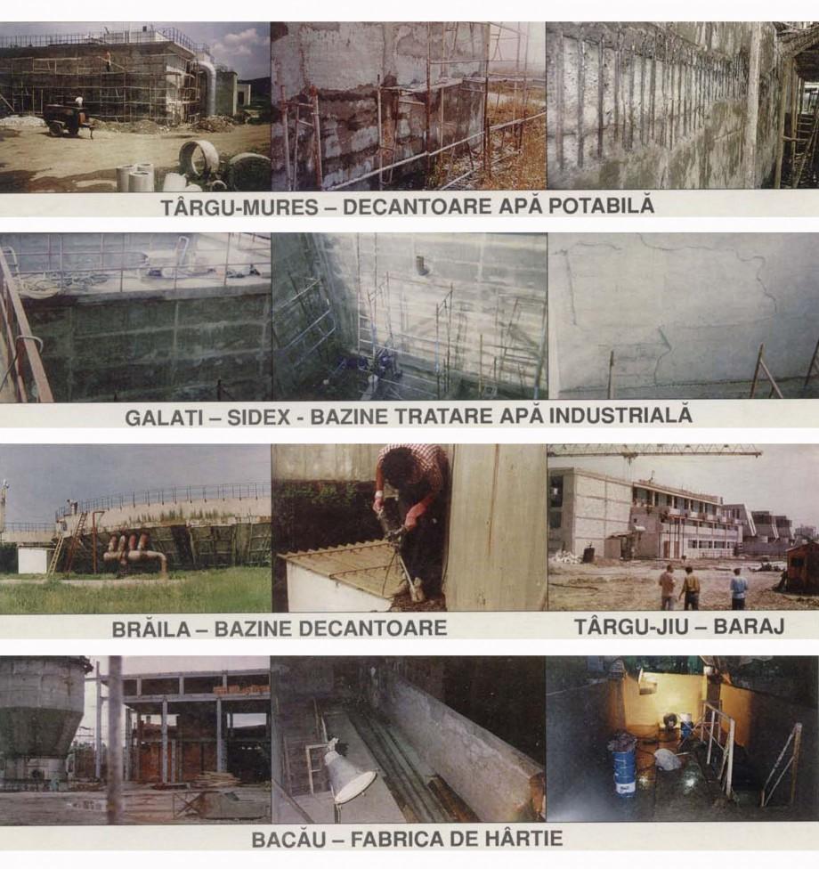 Pagina 1 - Lucrari realizate in Romania XYPEX Lucrari, proiecte Romana