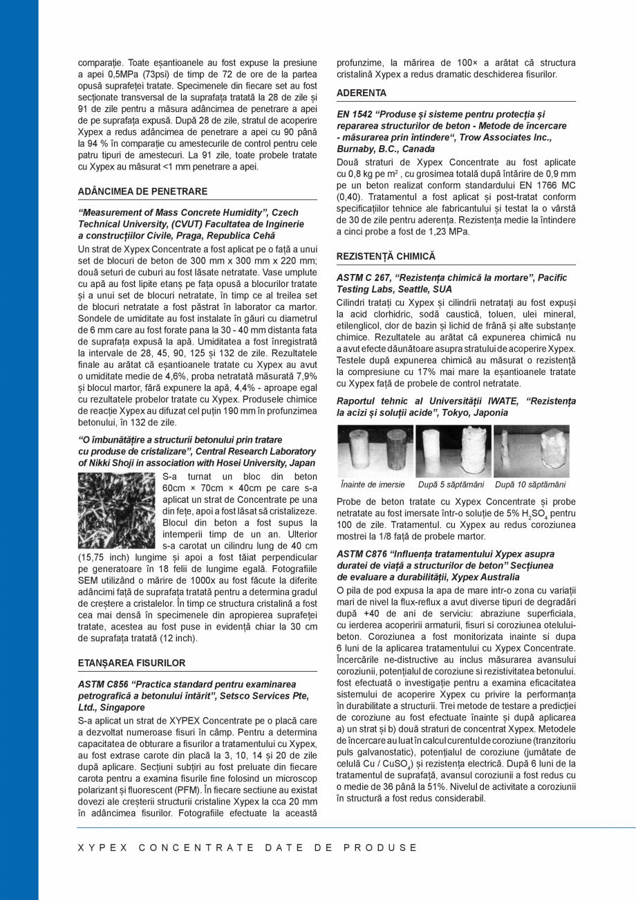 Pagina 2 - Tratament chimic pentru impermeabilizarea si protectia betonului si a otelului beton...