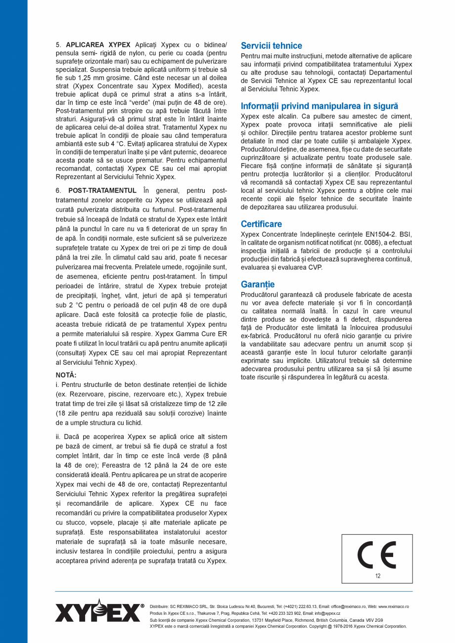 Pagina 4 - Tratament chimic pentru impermeabilizarea si protectia betonului si a otelului beton...