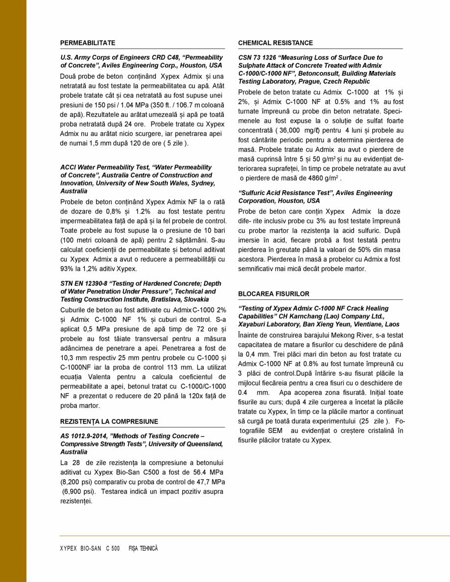 Pagina 2 - Protectie impotriva coroziunii induse de microbi și atac chimic - Impermeabilizare beton...