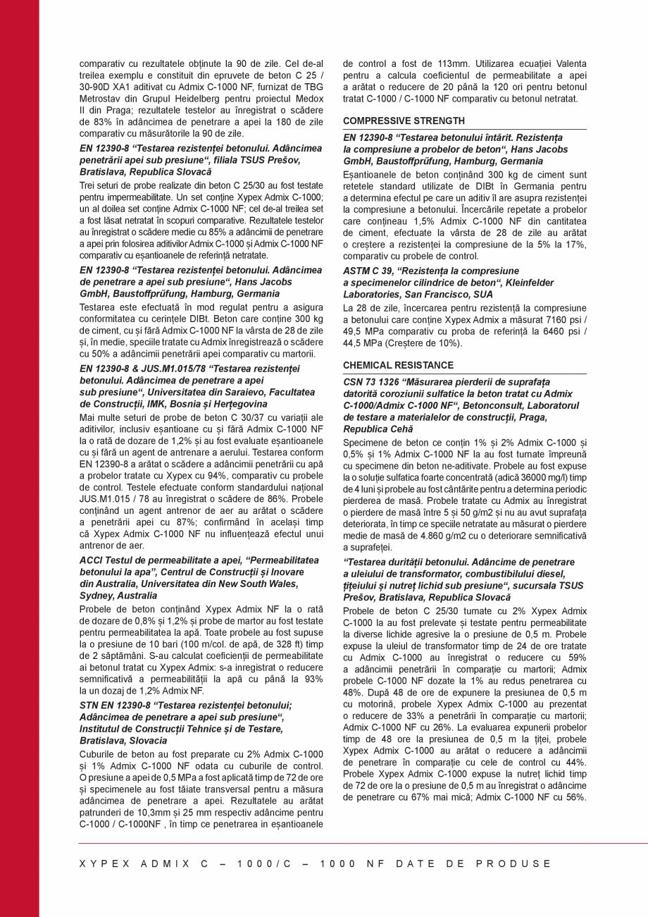 Pagina 2 - Tratament chimic unic pentru impermeabilizarea, protectia si imbunatatirea calitatilor...